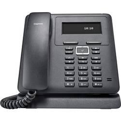 Šňůrový telefon, VoIP Gigaset Pro Maxwell Basic handsfree, konektor na sluchátka podsvícený displej černá