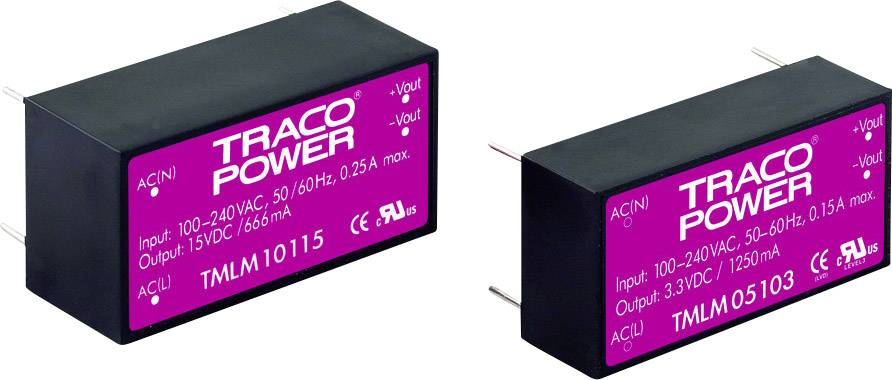Síťový zdroj do DPS TracoPower TMLM 05105, 5 W, 5 V