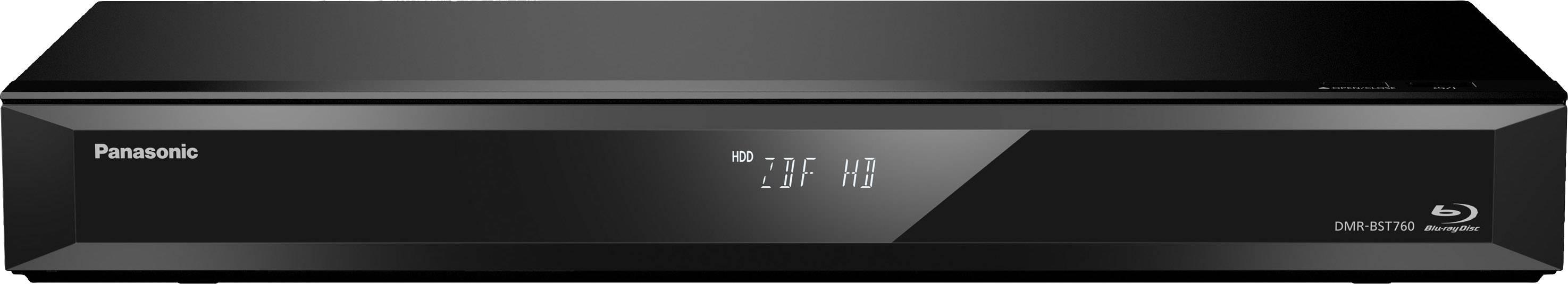 3D Blu-Ray přehrávač/rekordér s HDD Panasonic DMR-BST760EG Twin HD DVB-S tuner, Wi-Fi, černá