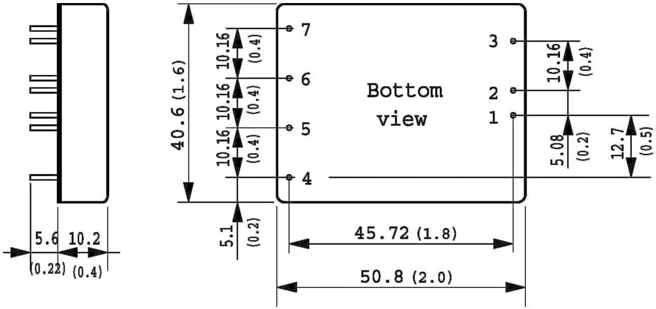 DC/DC měnič TracoPower TEN 30-2412WI, vstup 10 - 40 V/DC, výstup 12 V/DC, 2,5 A, 30 W