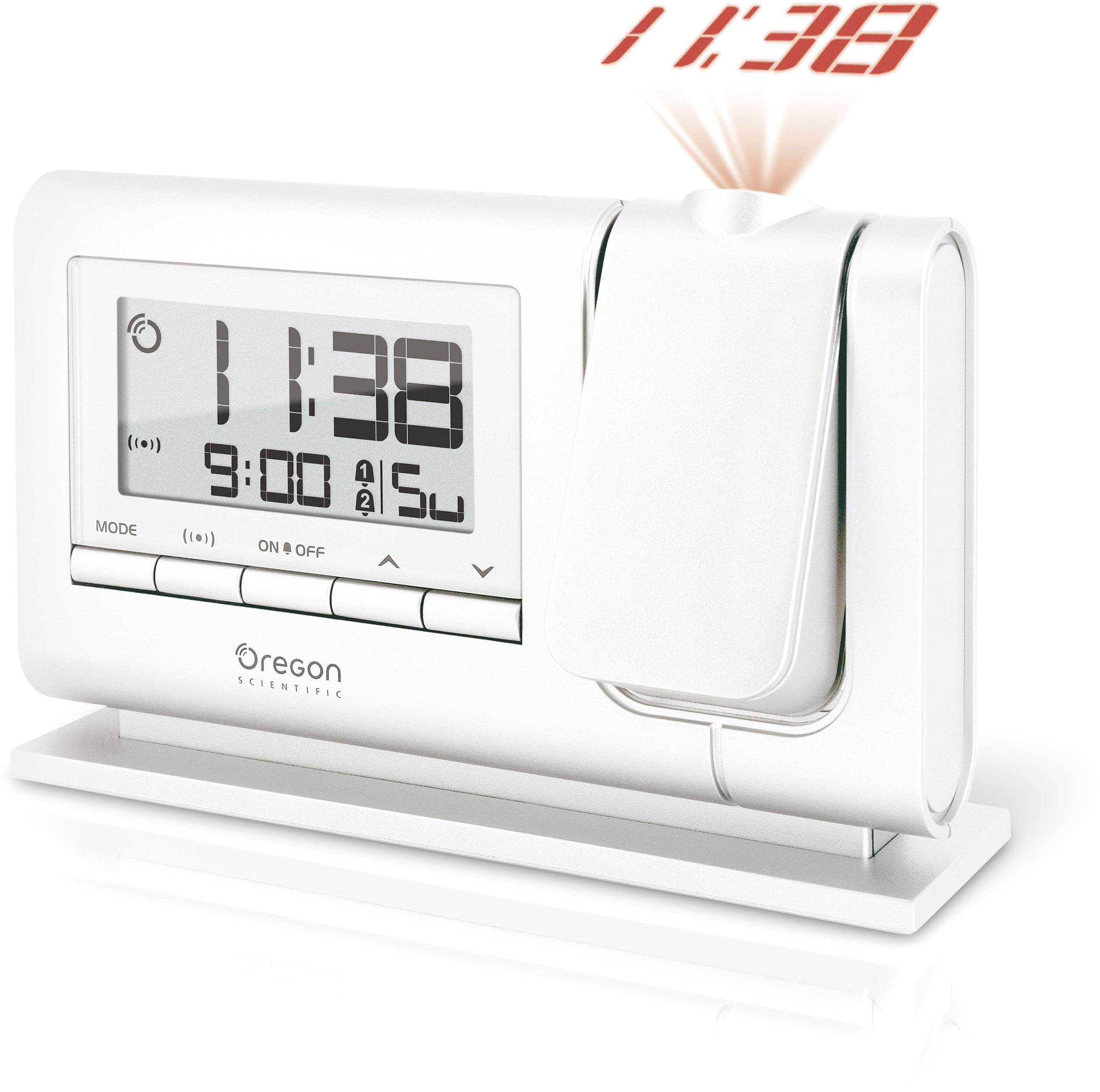 DCF projekčné hodiny Oregon Scientific RM308P, biela