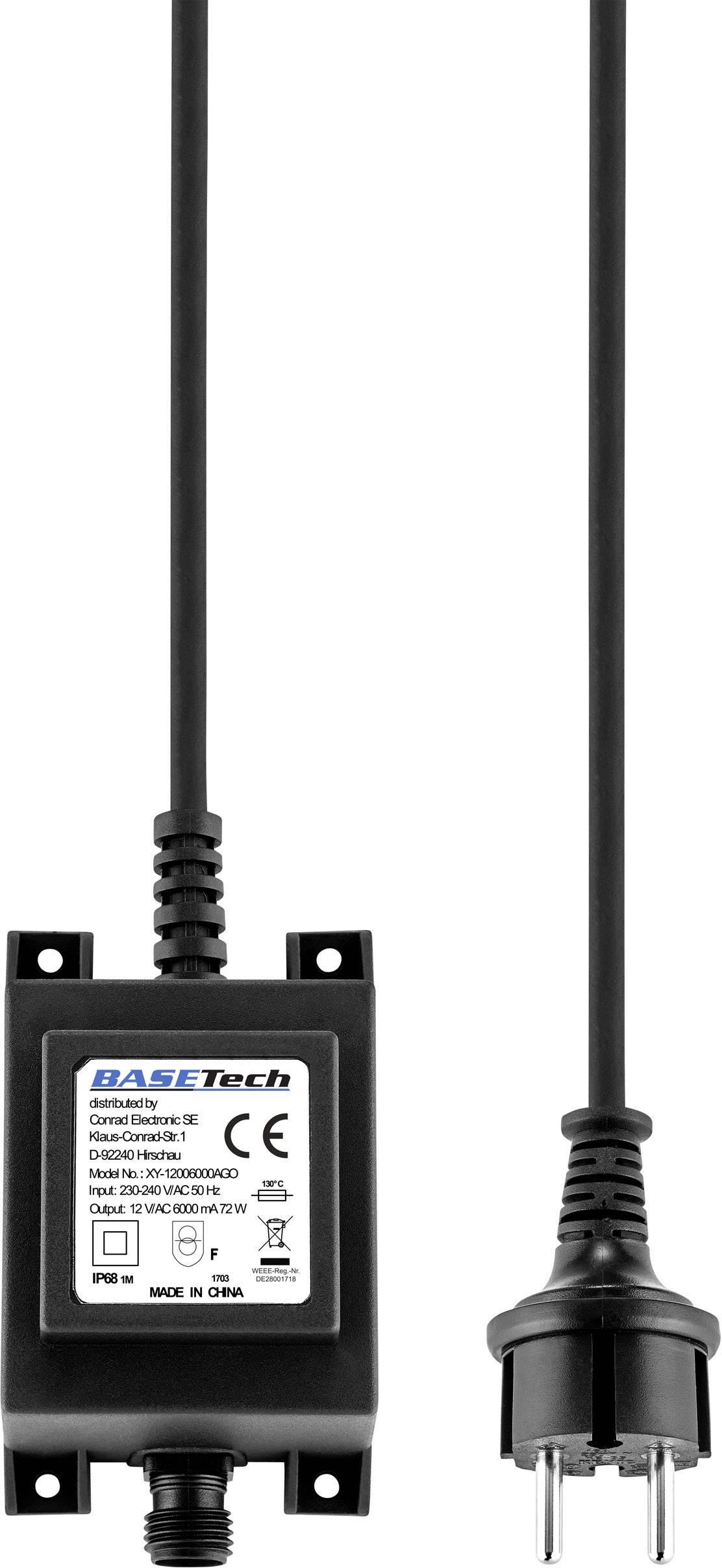 Transformátor pro halogenové osvětlení Basetech XY-12003300AGO, 40 W, 12 V/AC