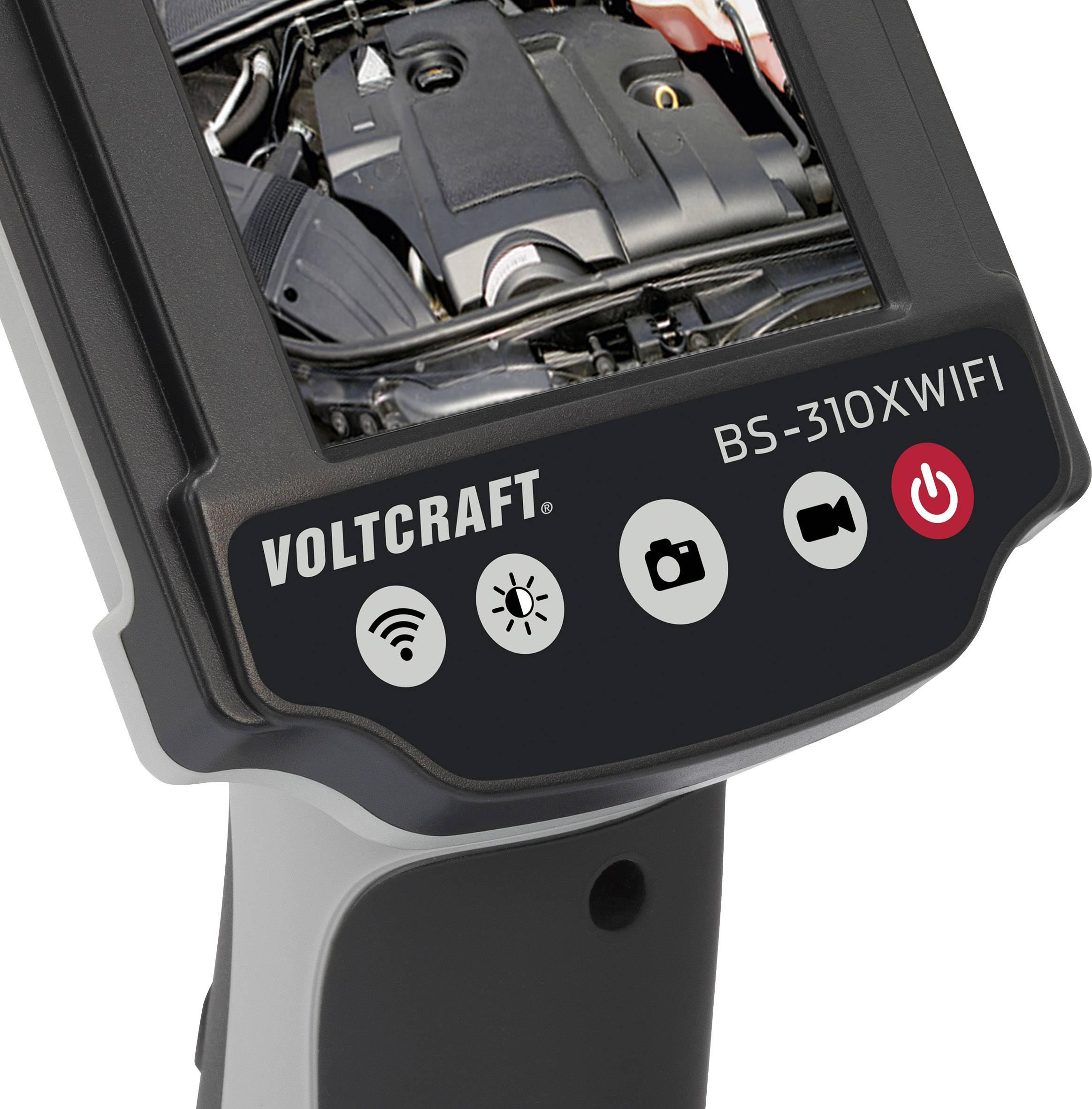 Endoskop VOLTCRAFT BS-310XWIFI, Ø sondy 8 mm, délka sondy 88 cm
