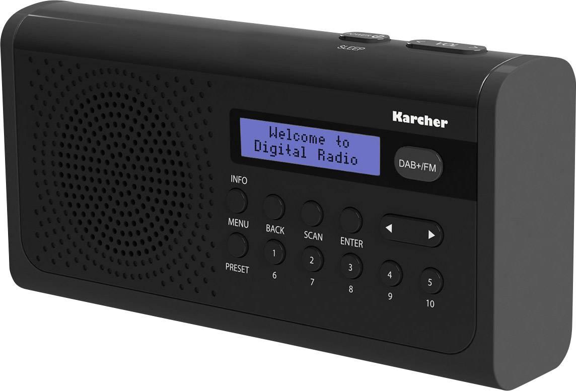 DAB+ stolné rádio Karcher DAB 2405, DAB+, UKW, čierna
