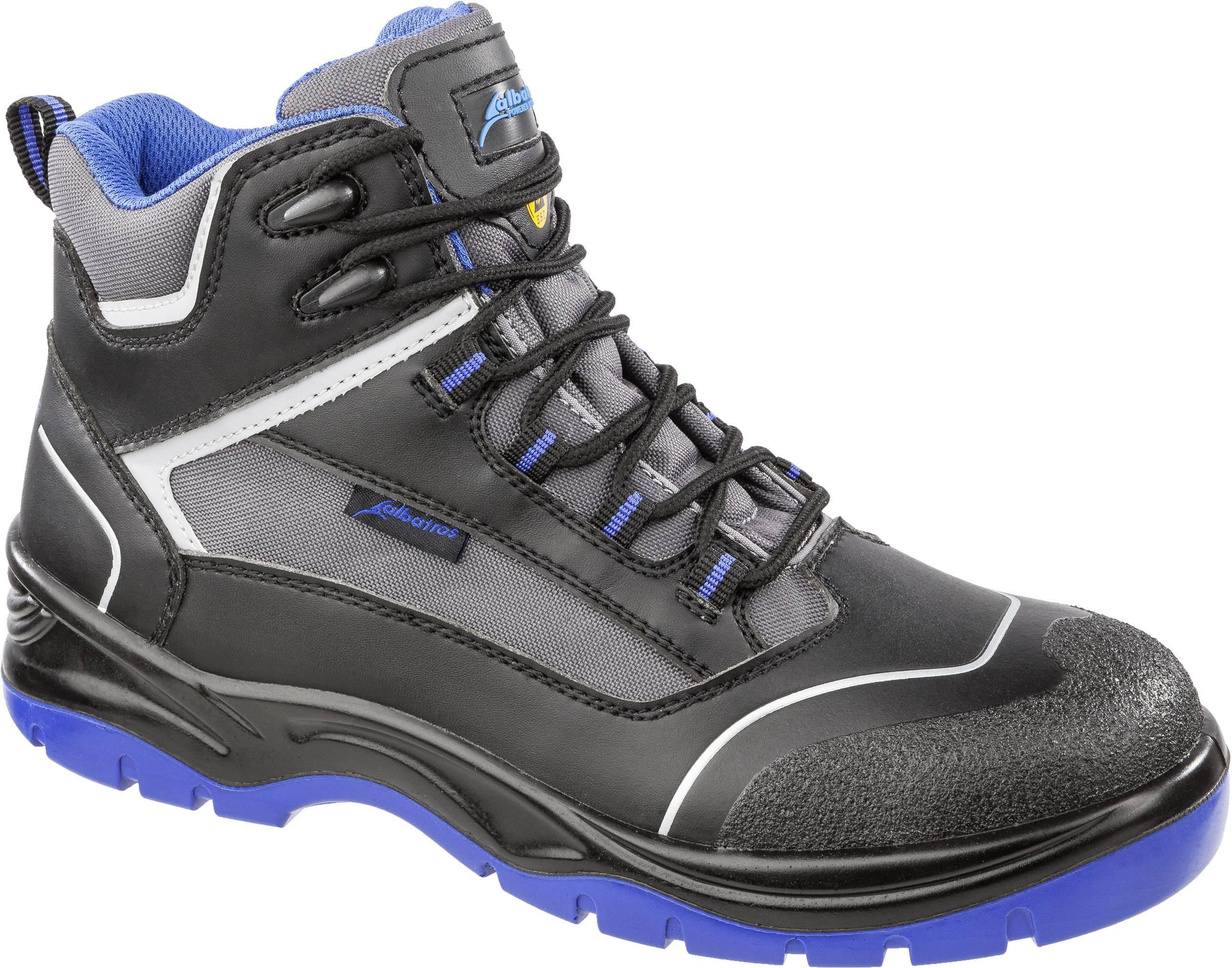 Bezpečnostná obuv ESD (antistatická) S3 Albatros BLUETECH MID ESD SRC 631150-42, veľ.: 42, čierna, sivá, modrá, 1 pár