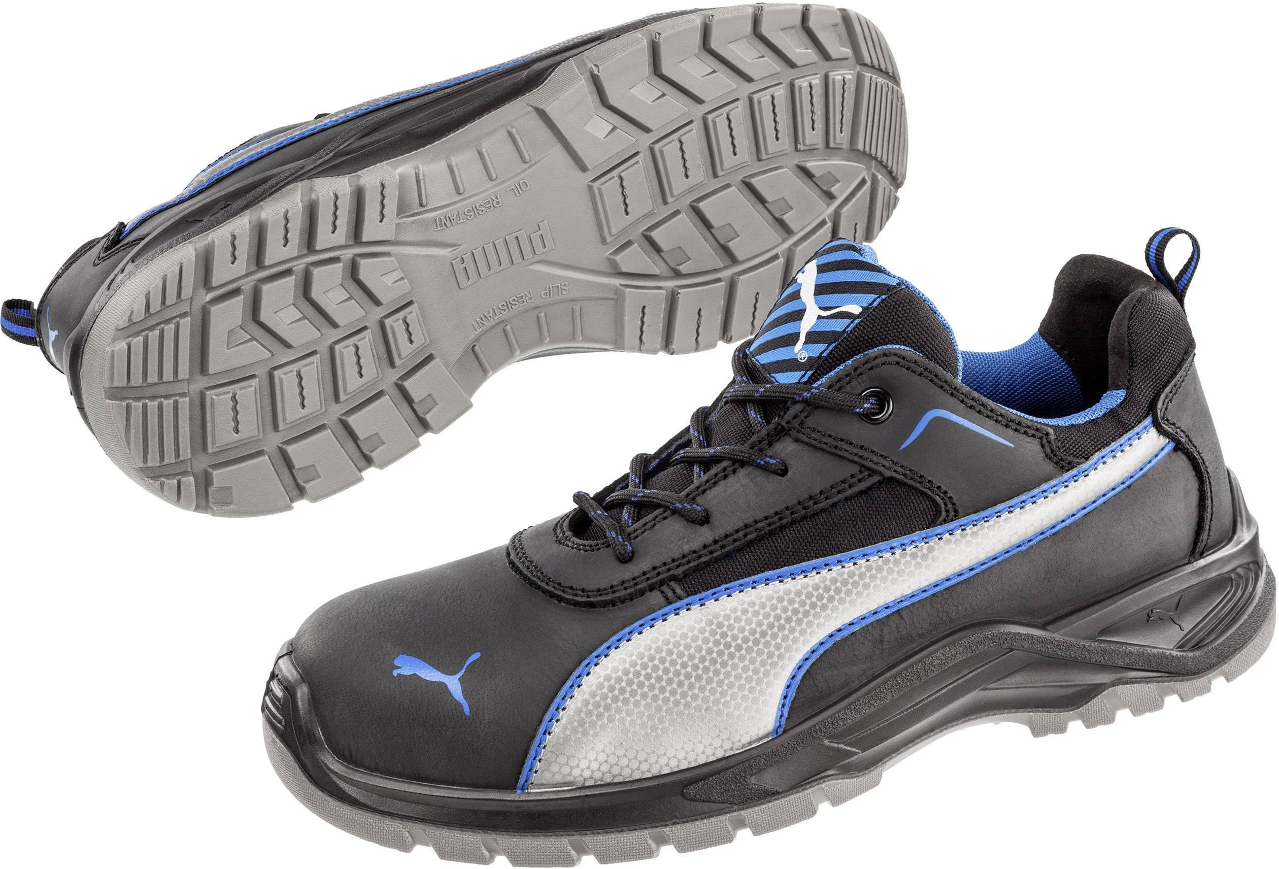 Bezpečnostní obuv S3 PUMA Safety Atomic Low SRC 643600-41, vel.: 41, černá, modrá, stříbrná, 1 pár