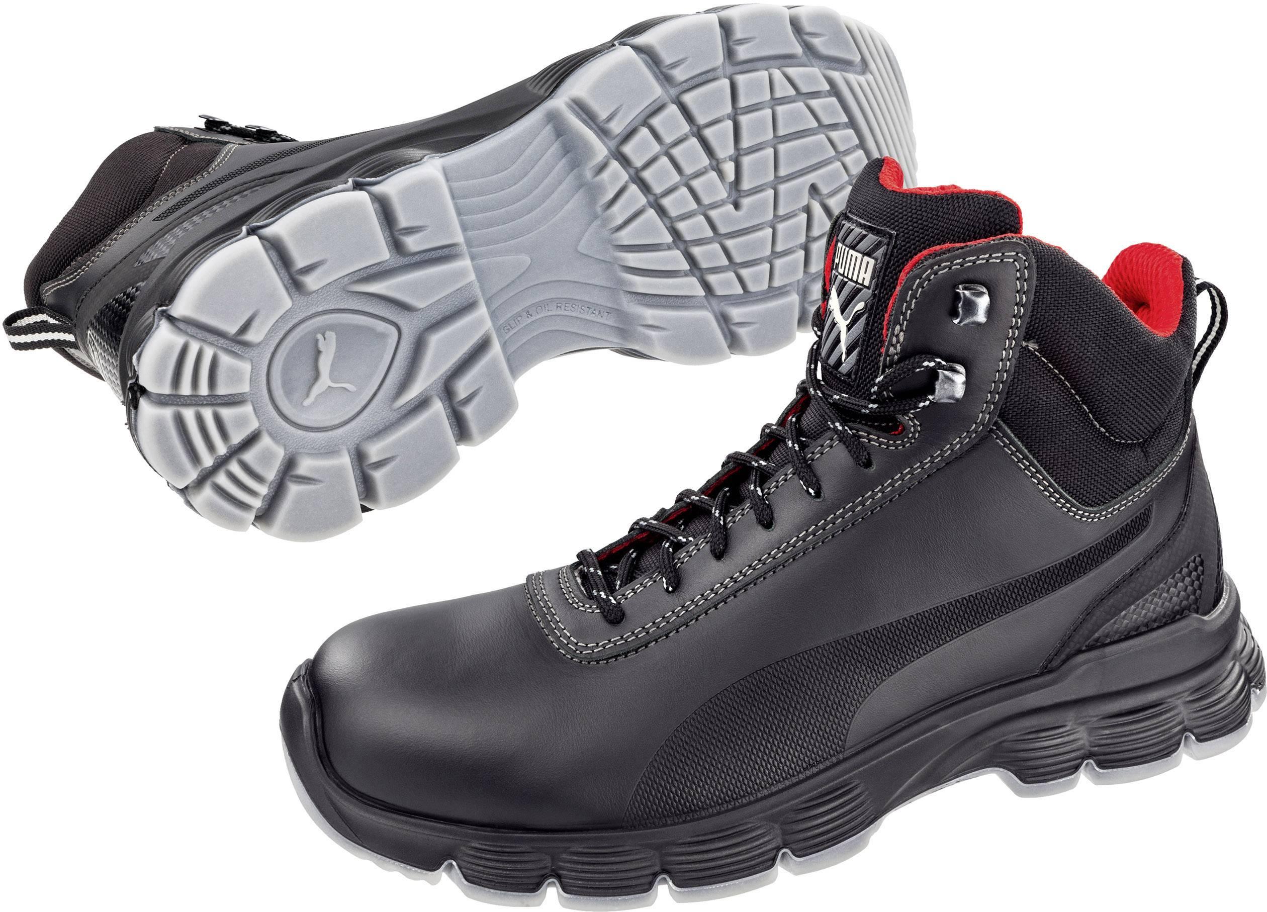 Bezpečnostná obuv ESD (antistatická) S3 PUMA Safety Pioneer Mid ESD SRC 630101-42, veľ.: 42, čierna, 1 pár
