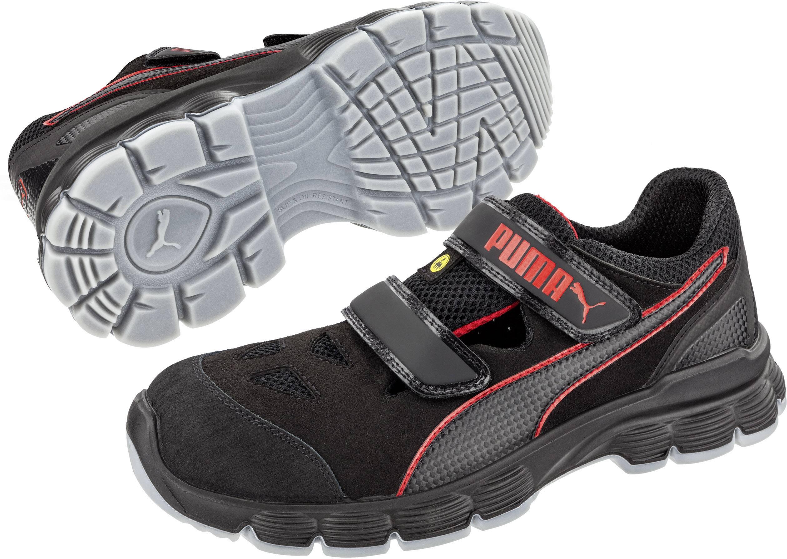 Bezpečnostná obuv ESD (antistatická) S1P PUMA Safety Aviat Low ESD SRC 640891-43, veľ.: 43, čierna, červená, 1 pár