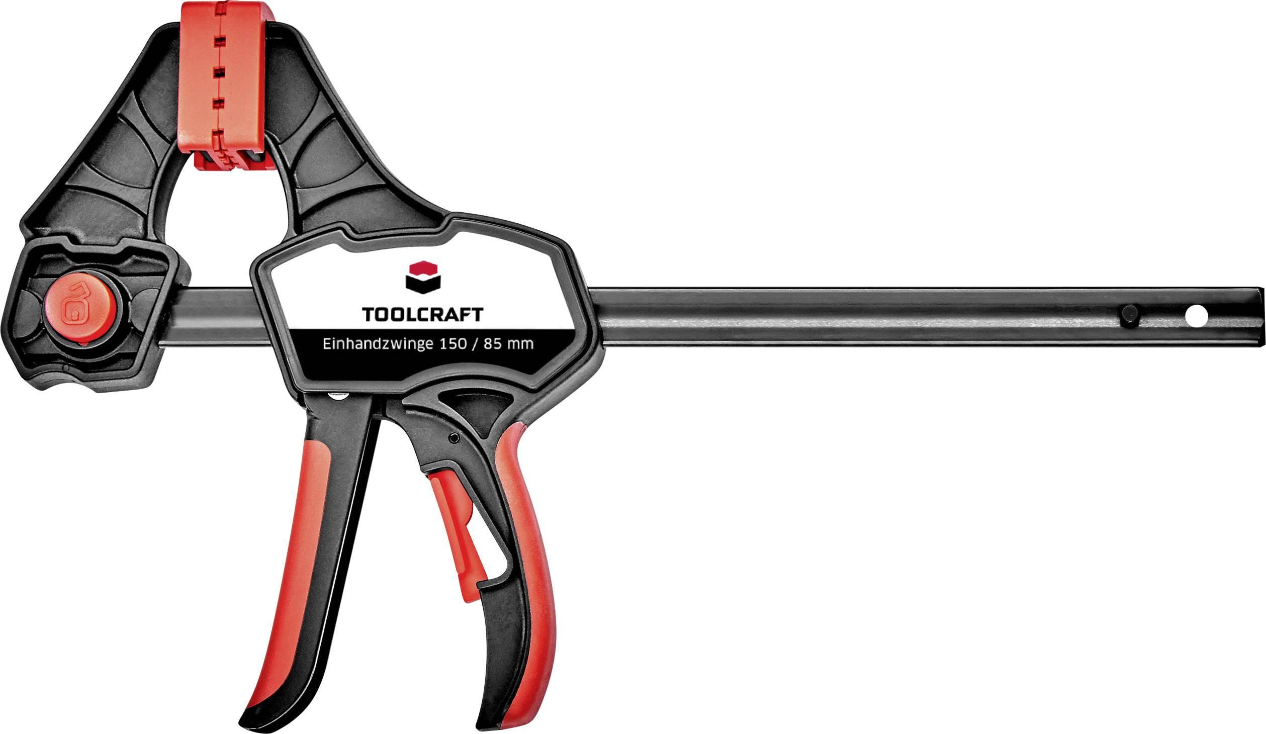 Jednoruční svěrka 150 / 85 mm TOOLCRAFT 1544398, rozpětí (max.) 150 mm, délka vyložení 85 mm