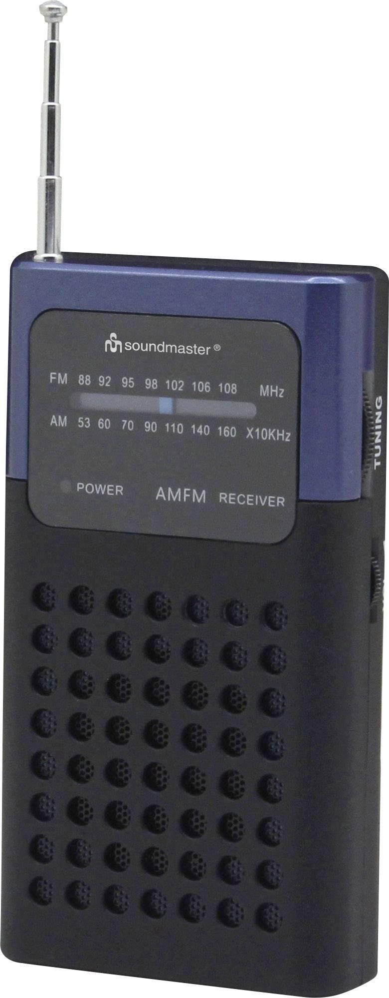 FM vreckové rádio SoundMaster TR10DBL, UKW, modrá