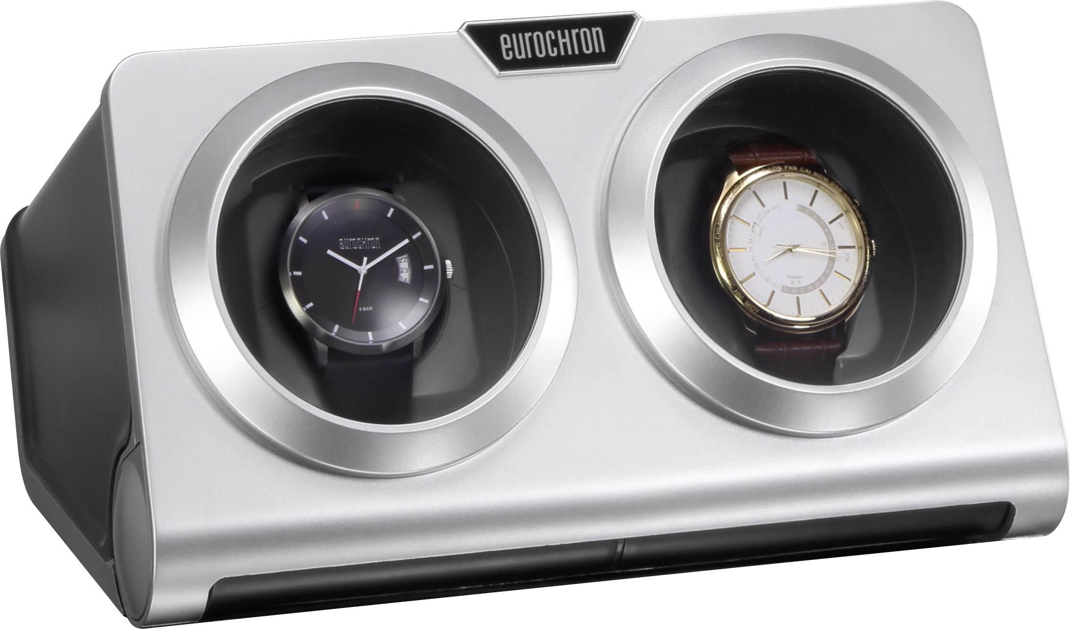 Stojan s natahovačem hodinek Eurochron vhodný pro dvoje hodinky