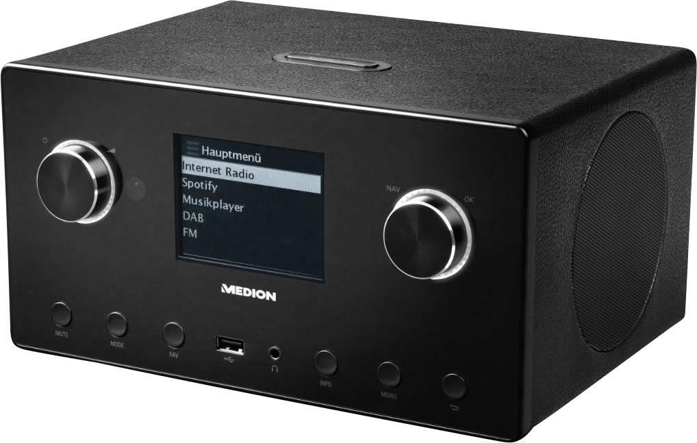 Internetové stolné rádio Medion P85096 (MD87516), Wi-Fi, UKW, Bluetooth®, čierna