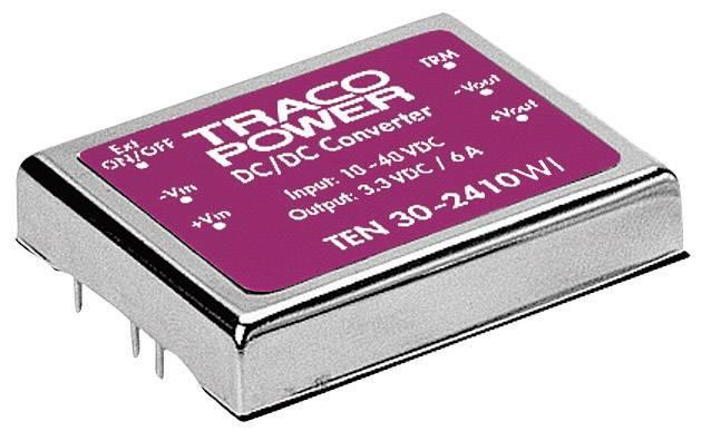 DC/DC měnič TracoPower TEN 30-4812WI, vstup 18 - 75 V/DC, výstup 12 V/DC, 2,5 A, 30 W