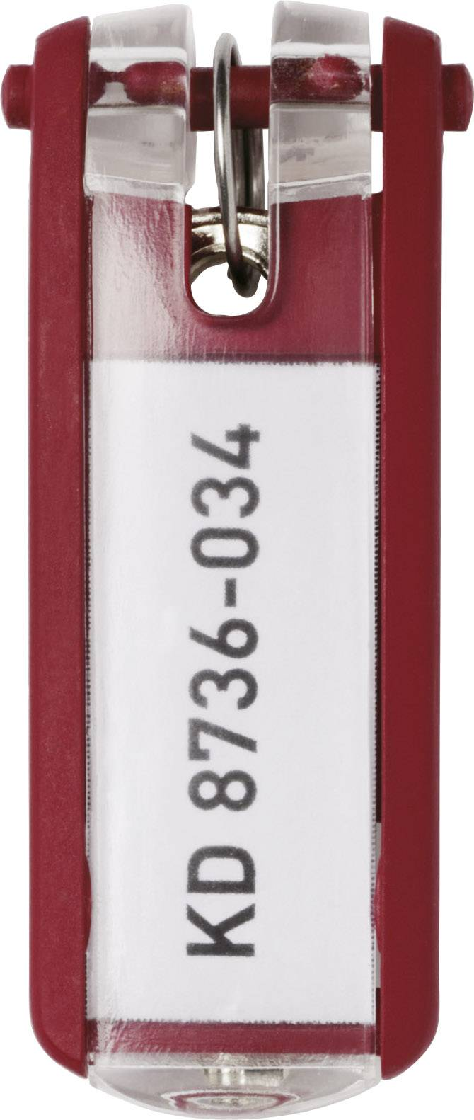 Věšák na klíče 6 ks červená