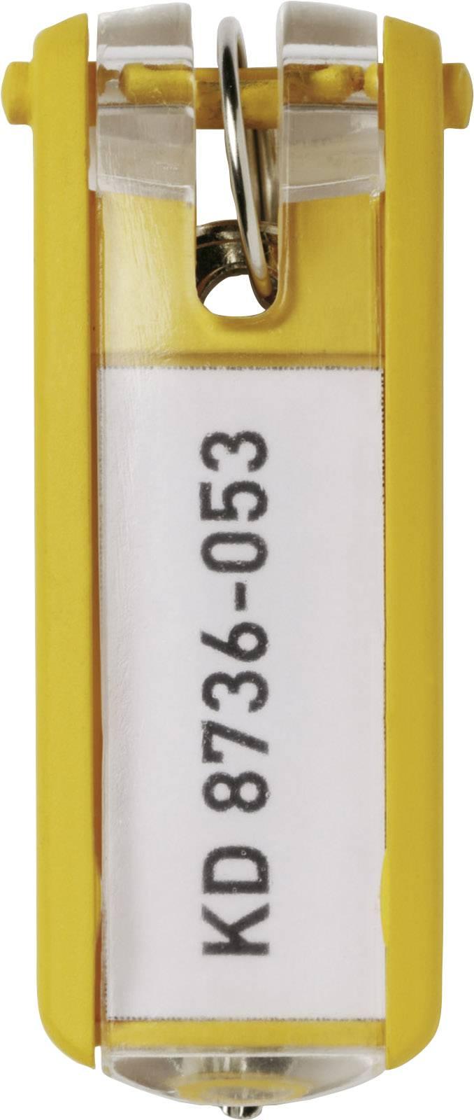 Věšák na klíče 6 ks žlutá