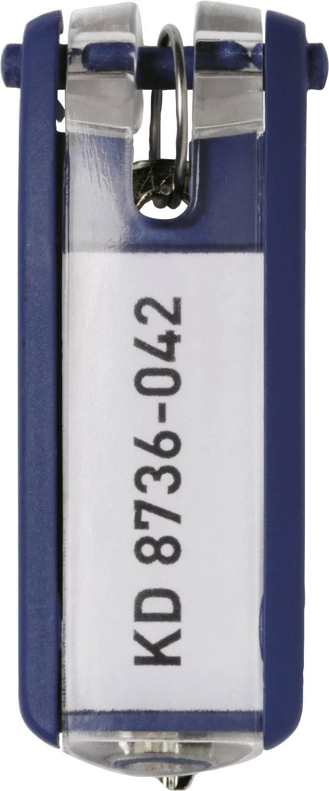 Věšák na klíče 6 ks modrá