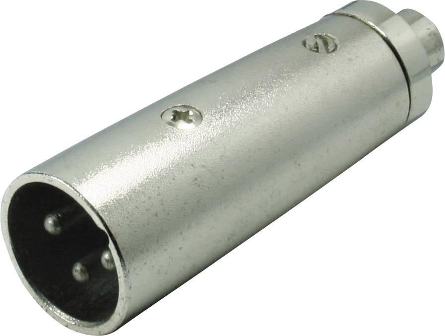 XLR adaptér Kash 55051, XLR zástrčka - cinch zásuvka, mono, pólů 3, 1 ks