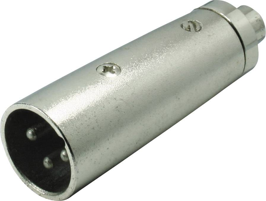 XLR adaptér XLR zástrčka - cinch zásuvka Kash 55051, čiernobiela, pólů 3, 1 ks