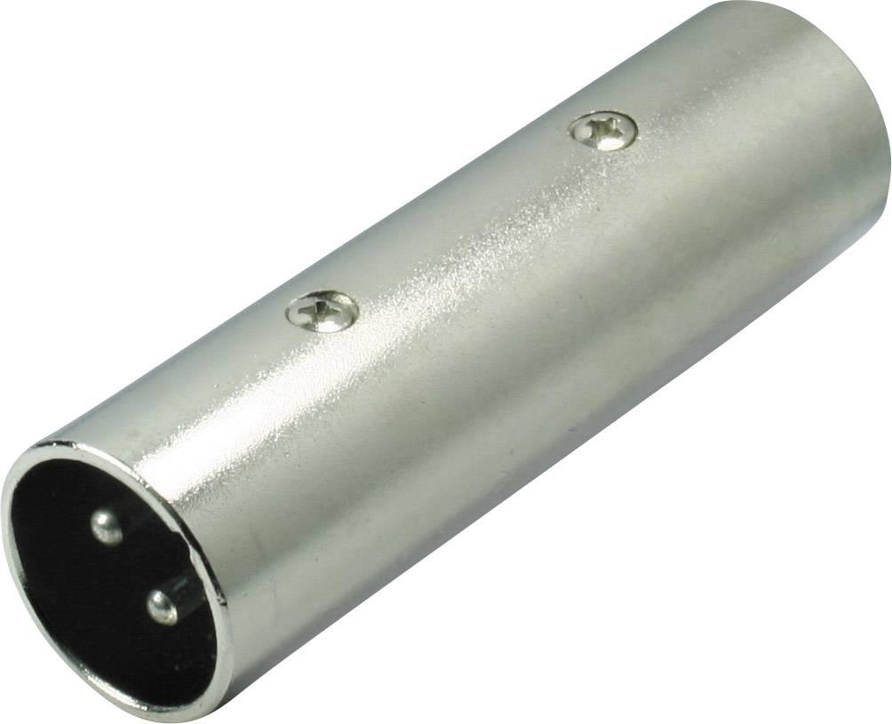 XLR adaptér XLR zástrčka - XLR zástrčka Kash 55063, stereo, pólů 3, 1 ks