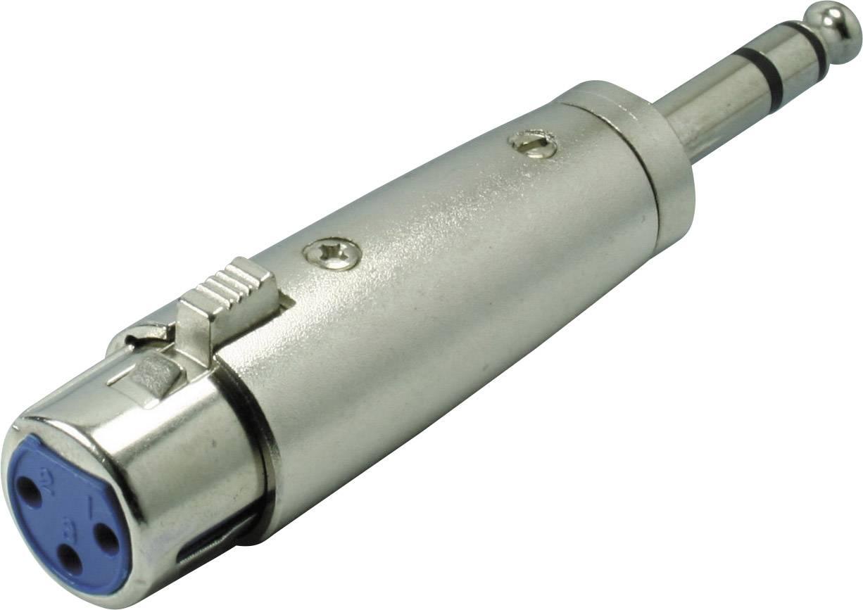 XLR adaptér Kash 55035, XLR zásuvka - jack zástrčka 6,3 mm, stereo, pólů 3, 1 ks