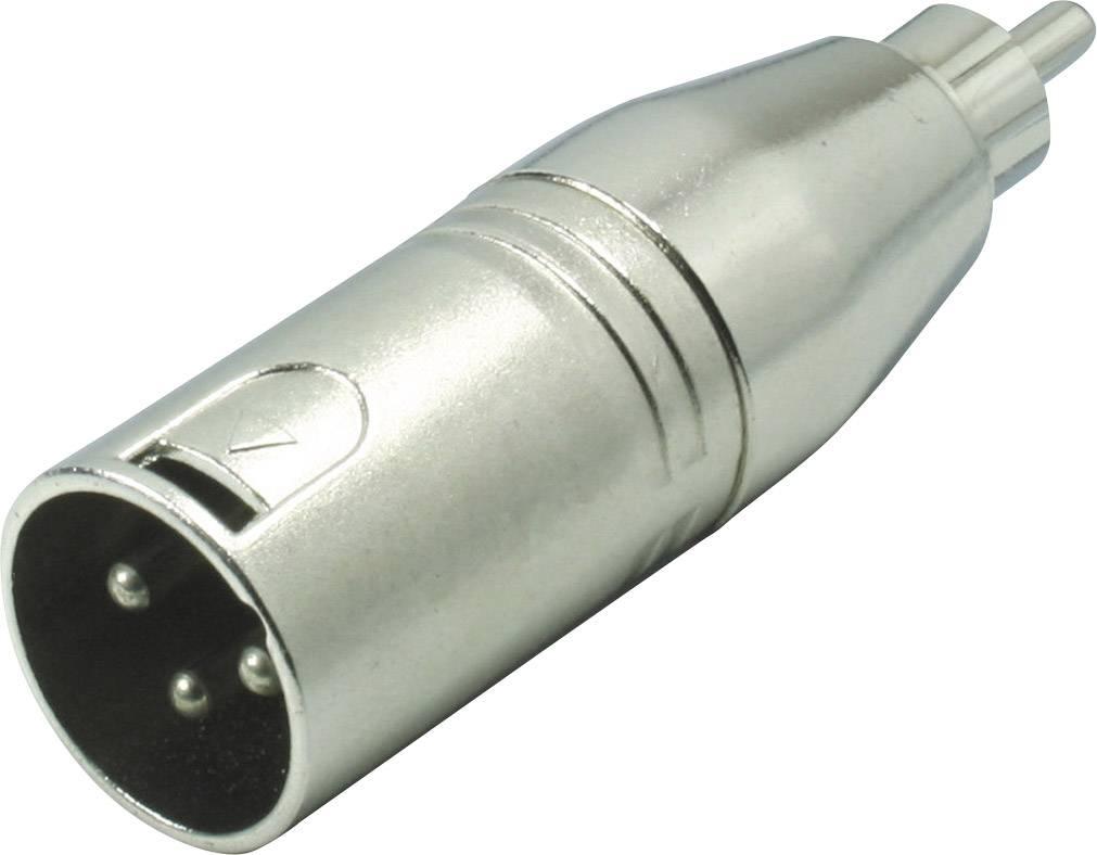XLR adaptér Kash 55060, XLR zástrčka - cinch zástrčka, mono, pólů 3, 1 ks