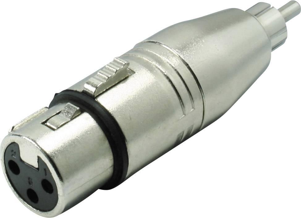 XLR adaptér Kash 55061, XLR zásuvka - cinch zástrčka, mono, pólů 3, 1 ks