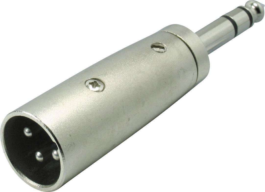 XLR adaptér Kash 55034, XLR zástrčka - jack zástrčka 6,3 mm, stereo, pólů 3, 1 ks