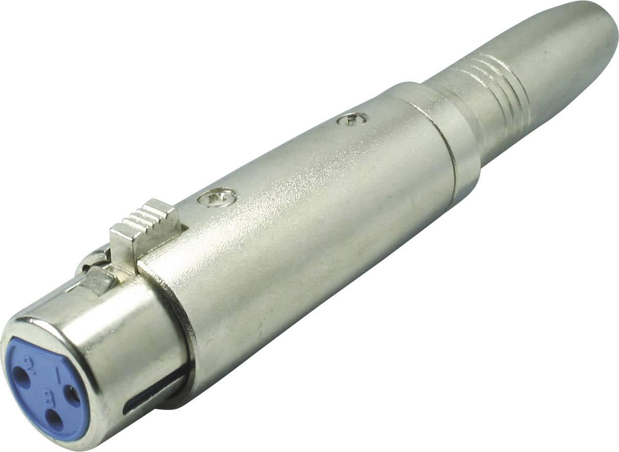 XLR adaptér Kash 55063, XLR zásuvka - jack zásuvka 6,3 mm, stereo, pólů 3, 1 ks