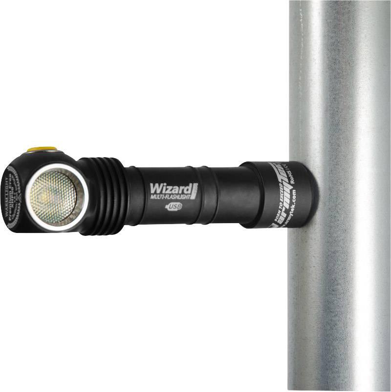LED čelovka ArmyTek Wizard Pro v3 XHP50 F00604SC (SKU), 59 g, napájanie z akumulátora, čierna, strieborná