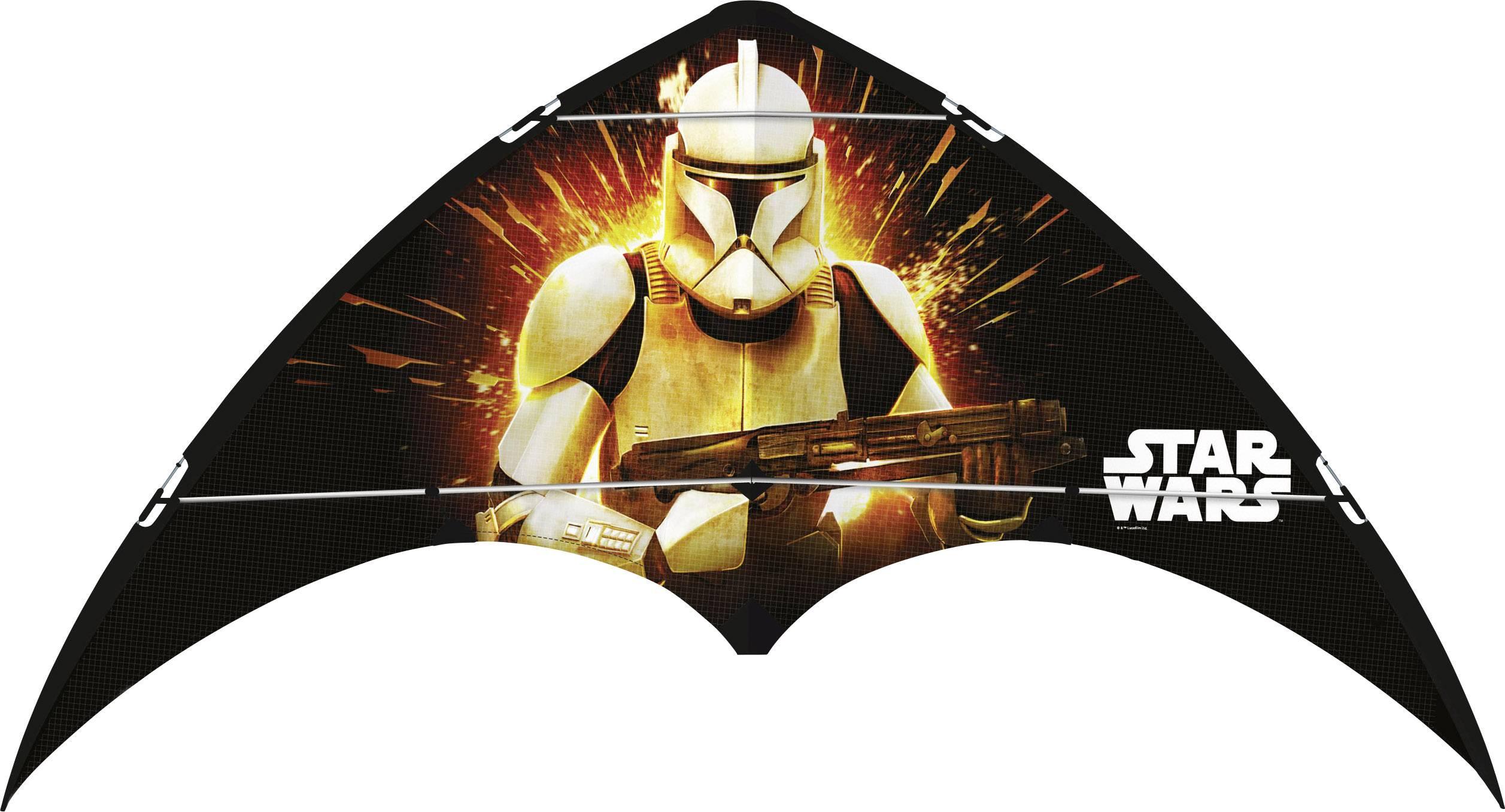 Športový šarkan jednošnúrový Star Wars Clone Troopers, Günther Flugspiele 1227, rozpätie 1200 mm
