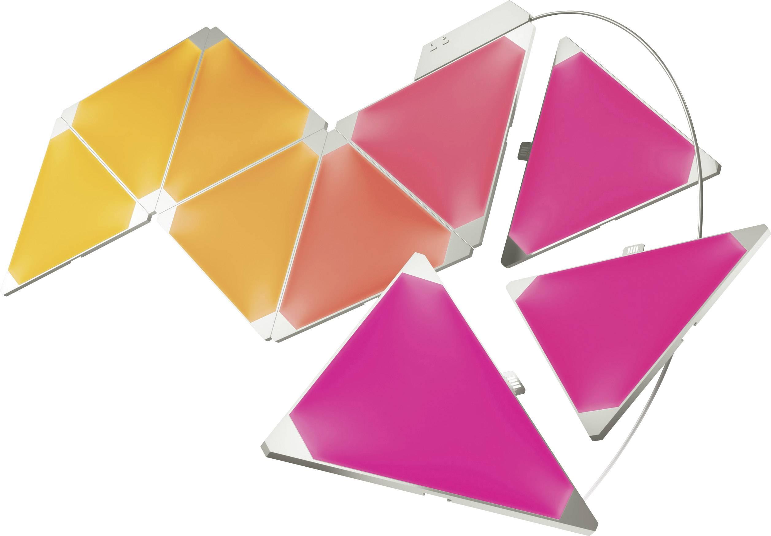 Chytré LED dekorační světelné panely, startovací sada Nanoleaf Aurora PWZ-5900 s Wi-Fi, 18 W, RGBW
