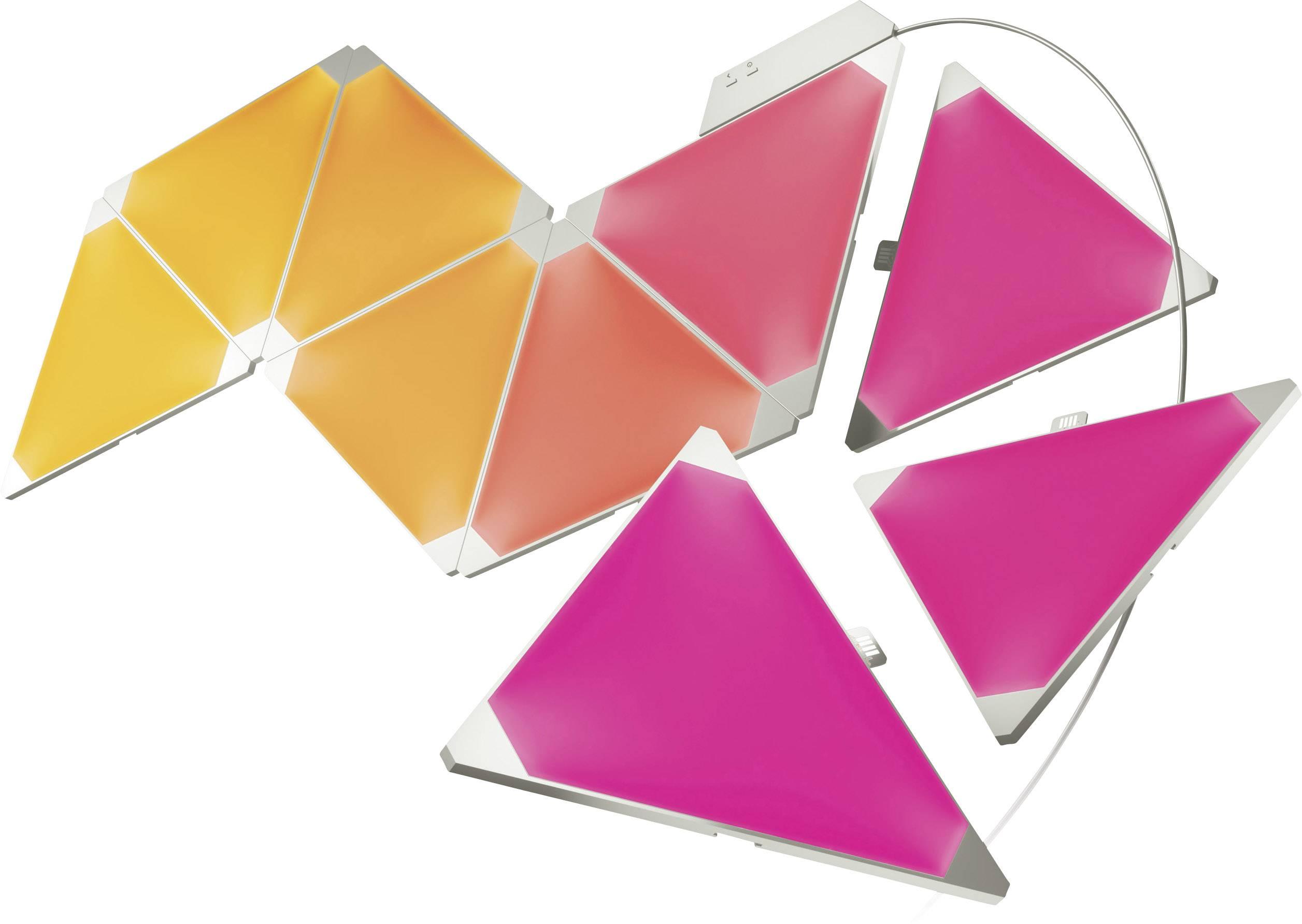 Inteligentné LED dekoračné svetelné panely, rozširujúca sada Nanoleaf Aurora PWZ-5901 s Wi-Fi, 6 W, RGBW