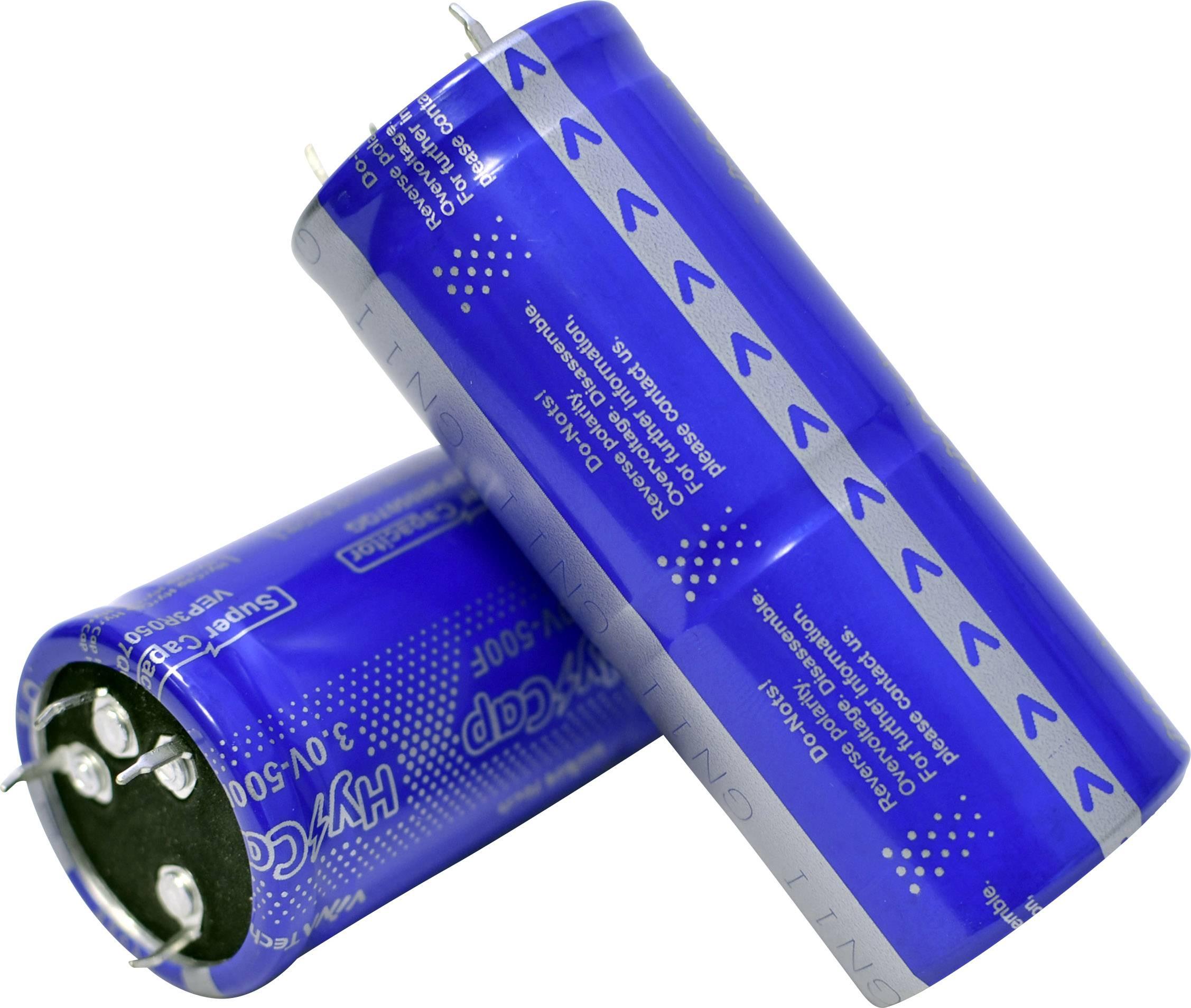 Dvouvrstvý kondenzátor VINATech VEP3R0507QG , 500 F, 3 V, (Ø x d) 35 mm x 82 mm, 1 ks