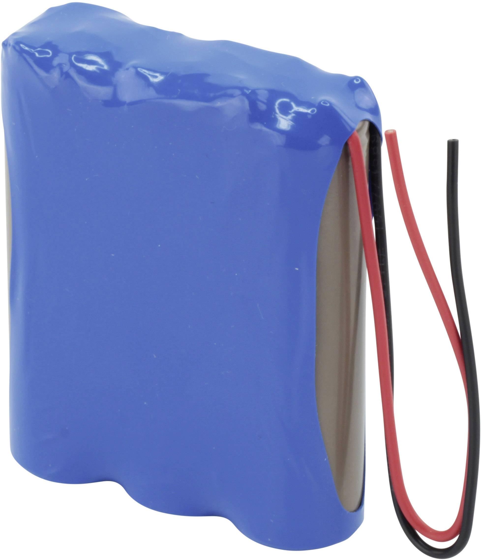 Akupack Li-Ion akumulátor 3 18650 s kabelem Ansmann 2447-3034-01, 7800 mAh, 3.7 V