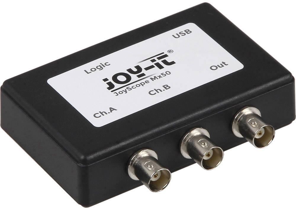 USB osciloskop Joy-it JT-ScopeMega50, 48 MHz, 2kanálový, 16kanálový, s pamětí (DSO), mixovaný signál (MSO), logický analyzátor, generátor funkcí