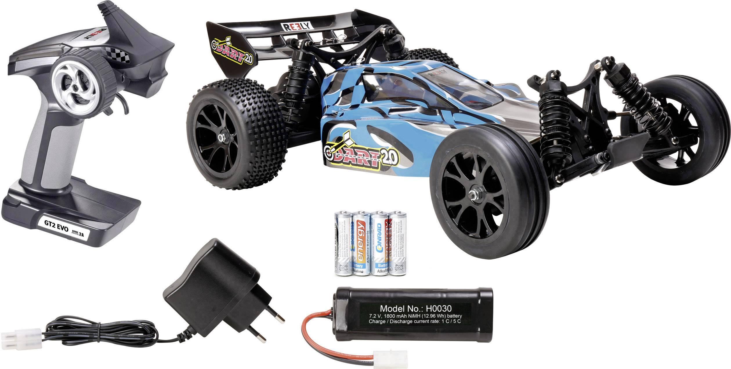 RC model auta buggy Reely Dart 2.0, komutátorový, 1:10, zadný 2WD (4x2), 100% RTR, 25 km/h