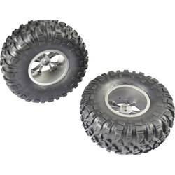 Kompletné kolesá blokový profil Reely 1547777 pre buggy, 132 mm, 1:10, 4 ks, sivá