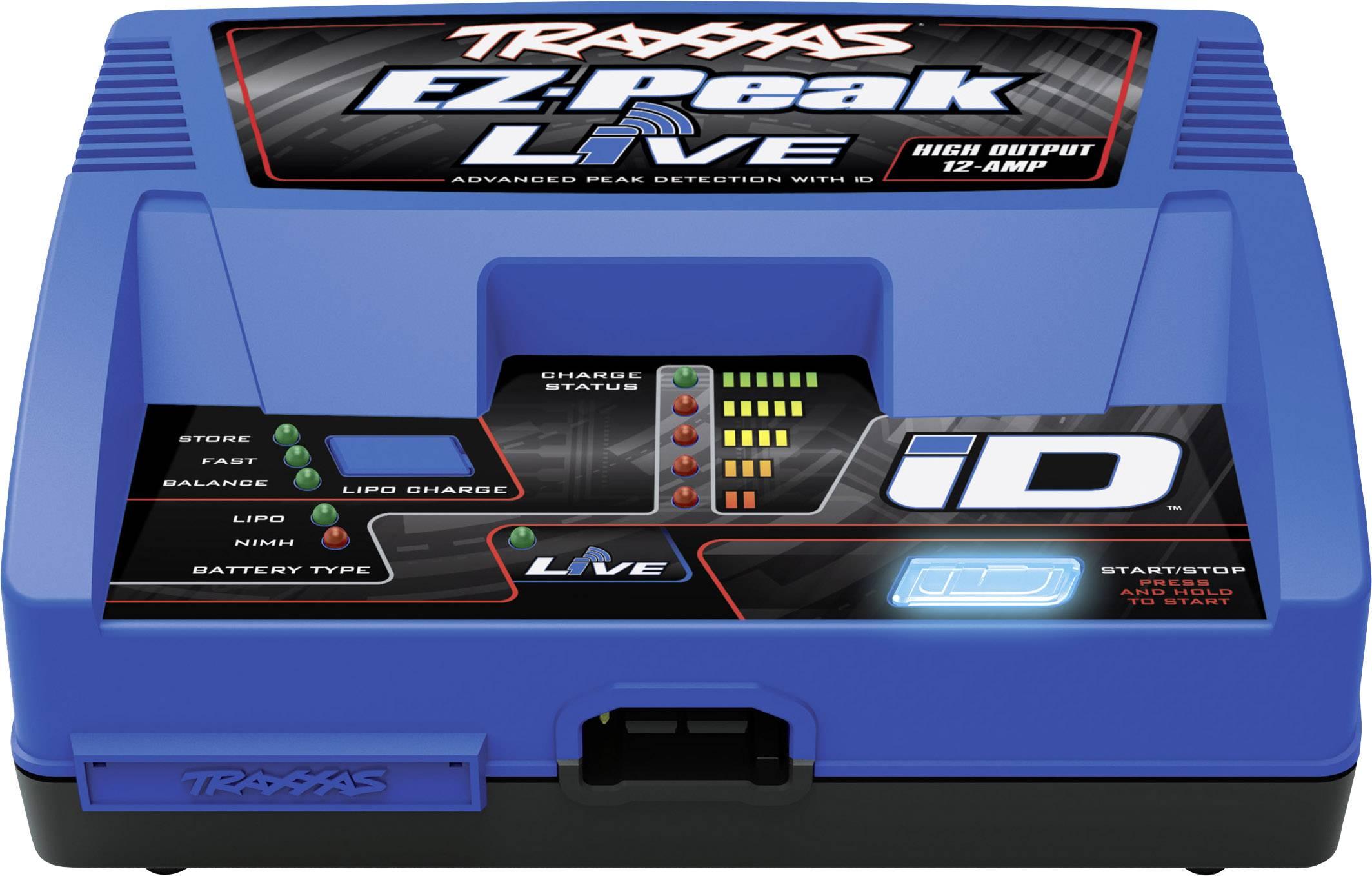Modelárska multifunkčná nabíjačka Traxxas EZ Peak Live 2971G, 230 V, 12 A