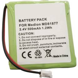 Akumulátor bezdrátového telefonu Beltrona TSinus-battery Vhodný pro značky (tiskárny): Amstrad, Audioline, Avaya, AVM, BT Verve, DeTeWe, GE, Gigaset, Medion, Philips, Radio Shack, Siemens, Telekom, Vtech, Panasonic Ni-MH 2.4 V 500 mAh