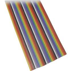Plochý kábel BKL Electronic 10120156/10, rozteč 1.27 mm, 10 x 0.08 mm², farebná, 10 m