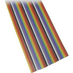 Plochý kábel BKL Electronic 10120161/3, rozteč 1.27 mm, 26 x 0.08 mm², farebná, 3 m