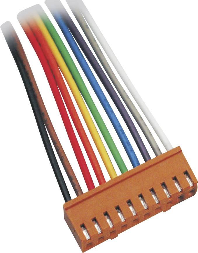 Zásuvkový konektor s vodiči TRU COMPONENTS 1582703, 25.50 mm, pólů 10, rozteč 2.50 mm, 1 ks