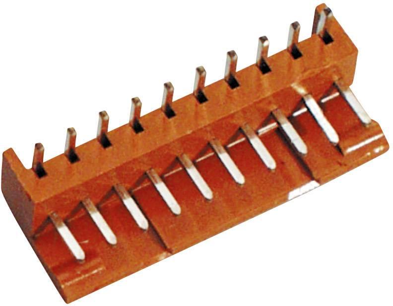 Pinová lišta (standardní) BKL Electronic 072509-U, pólů 10, rozteč 2.50 mm, 1 ks