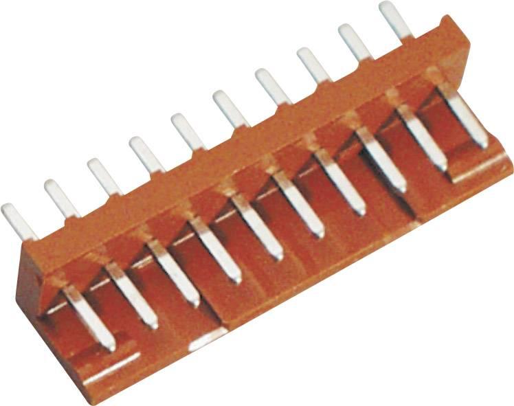 Pinová lišta (standardní) BKL Electronic 072508-U, pólů 10, rozteč 2.50 mm, 1 ks