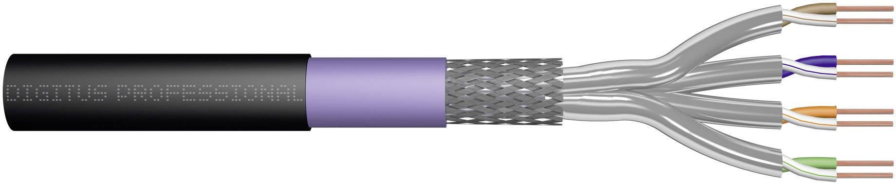Ethernetový síťový kabel CAT 7 Digitus Professional DK-1741-VH-10-OD, S/FTP, 4 x 2 x 0.25 mm², černá (RAL 9005), 1000 m