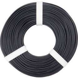 Opletenie / lanko BELI-BECO L125SW50 1 x 0.25 mm², vonkajší Ø 1.2 mm, 50 m, čierna