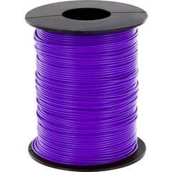 Opletenie / lanko BELI-BECO L125VI25 1 x 0.25 mm², vonkajší Ø 1.2 mm, 25 m, fialová