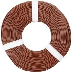 Opletenie / lanko BELI-BECO L125BR50 1 x 0.25 mm², vonkajší Ø 1.2 mm, 50 m, hnedá