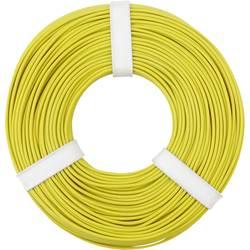 Opletenie / lanko BELI-BECO L125GE50 1 x 0.25 mm², vonkajší Ø 1.2 mm, 50 m, žltá