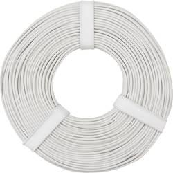 Opletenie / lanko BELI-BECO L125WS50 1 x 0.25 mm², vonkajší Ø 1.2 mm, 50 m, biela